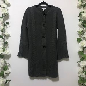 Style & Co Long Button Front Cardigan Sweater M